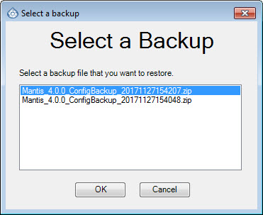 Backup File Wizard